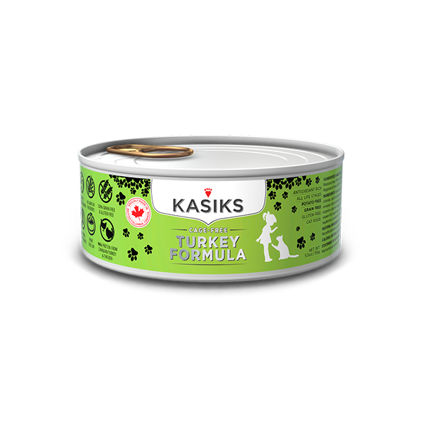 Kasiks Cat GF Cage Free Turkey 24/5.5 oz - Catoro Cat Cafe