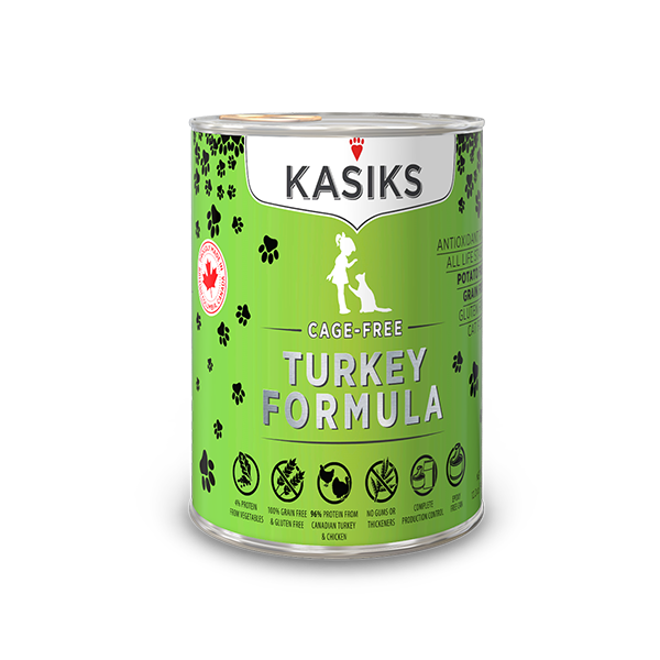 Kasiks Cat GF Cage Free Turkey 12/12.2 oz - Catoro Cat Cafe