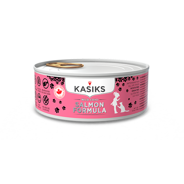 Kasiks Cat GF Wild Coho Salmon 24/5.5 oz - Catoro Cat Cafe