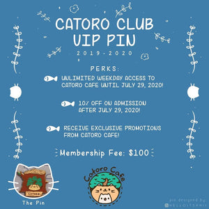 Catoro Club VIP Membership Pin - Catoro Cat Cafe