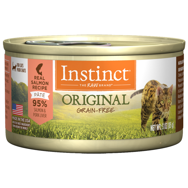 Instinct Cat Original GF WildCaught Salmon 24/3 oz Cans - Catoro Cat Cafe