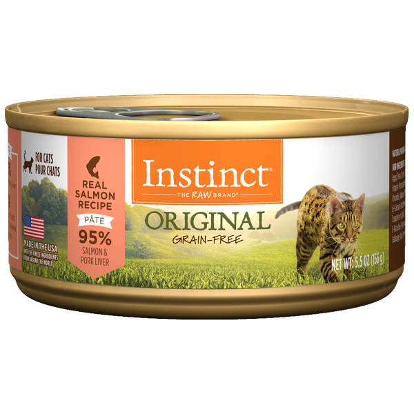 Instinct Cat Original GF WildCaught Salmon 12/5.5 oz Cans - Catoro Cat Cafe