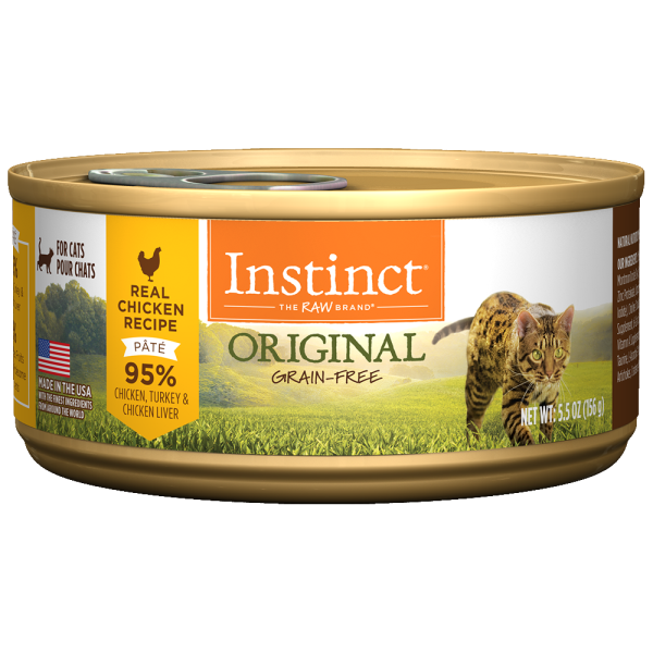 Instinct Cat Original GF CageFree Chicken 12/5.5 oz Cans - Catoro Cat Cafe