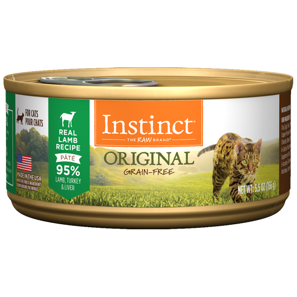 Instinct Cat Original GF GrassFed Lamb 12/5.5 oz Cans - Catoro Cat Cafe