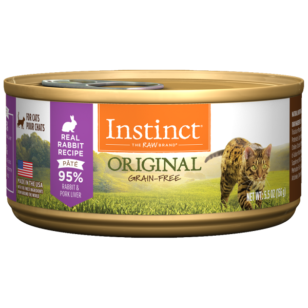 Instinct Cat Original GF FarmRaised Rabbit 12/5.5 oz Cans - Catoro Cat Cafe