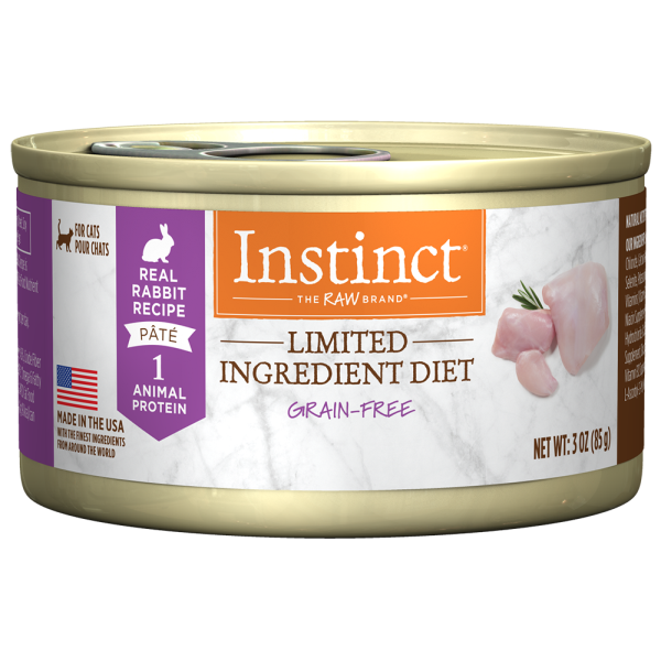 Instinct Cat GF LID Cans FarmRaised Rabbit 24/3 oz - Catoro Cat Cafe