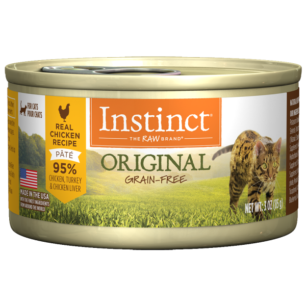 Instinct Cat Original GF CageFree Chicken 24/3 oz Cans - Catoro Cat Cafe