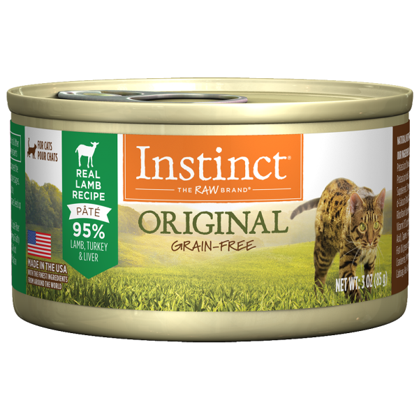 Instinct Cat Original GF GrassFed Lamb 24/3 oz Cans - Catoro Cat Cafe