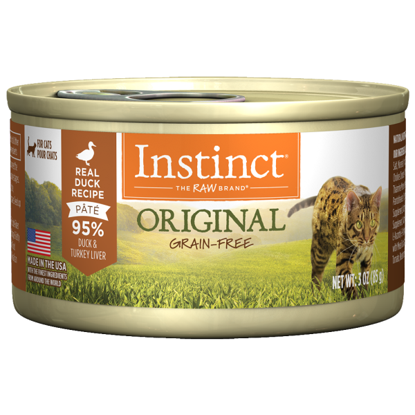 Instinct Cat Original GF CageFree Duck 24/3 oz Cans - Catoro Cat Cafe