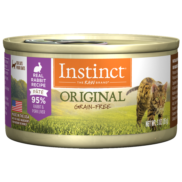 Instinct Cat Original GF FarmRaised Rabbit 24/3 oz Cans - Catoro Cat Cafe