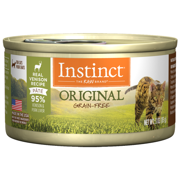 Instinct Cat Original GF GrassFed Venison 24/3 oz Cans - Catoro Cat Cafe