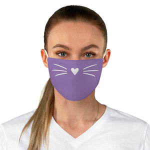 Whiskers Face Mask (Purple) - Catoro Cat Cafe