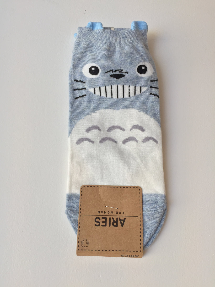 Totoro Socks (Blue) - Catoro Cat Cafe