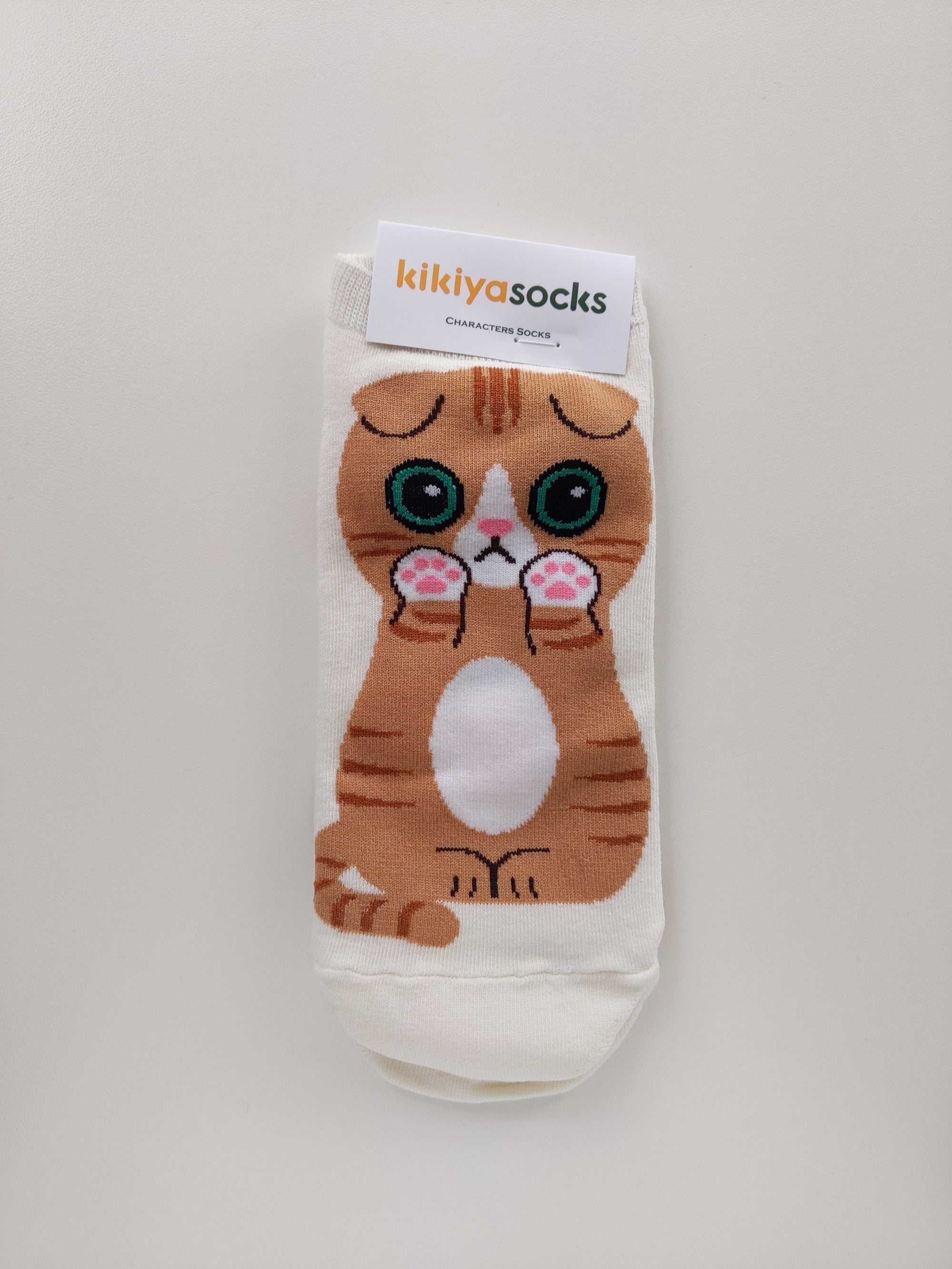 Scottish Fold Cat Socks - Catoro Cat Cafe