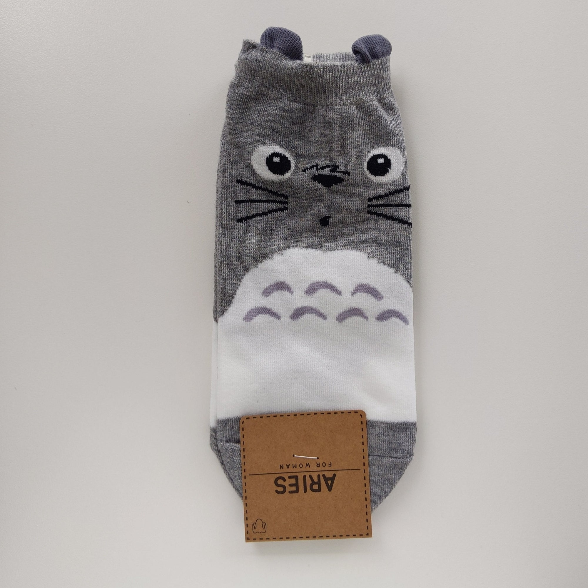 Totoro Socks (Gray) - Catoro Cat Cafe
