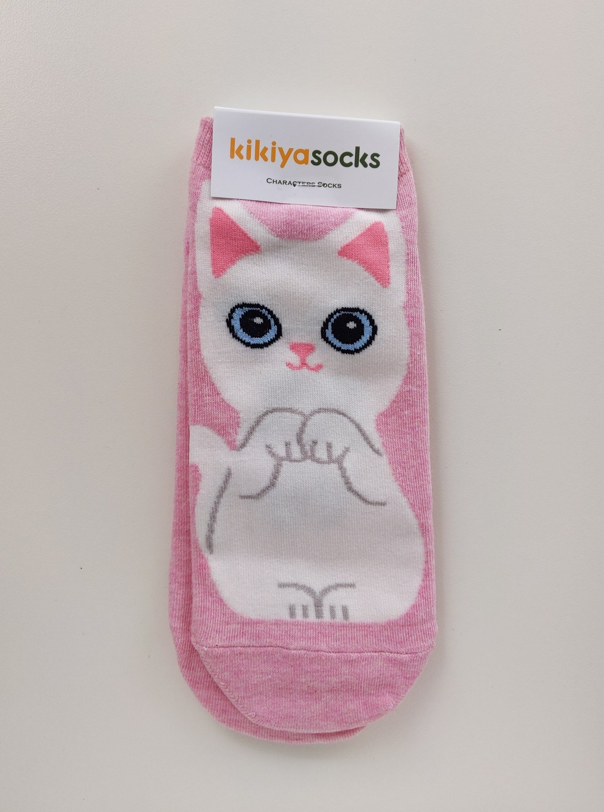 Turkish Angora Cat Socks - Catoro Cat Cafe