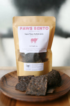 Paws Bento Super Water Buffalo Jerky 50g - Catoro Cat Cafe