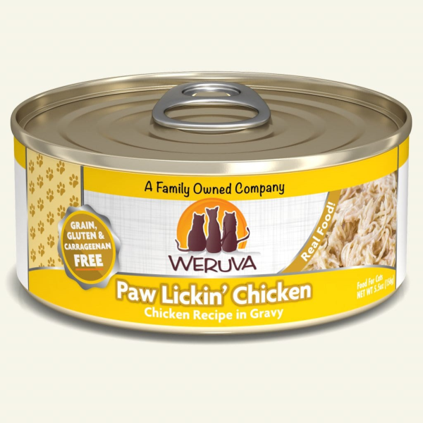 Weruva Cat GF Paw Lickin Chicken 5.5 oz - Catoro Cat Cafe