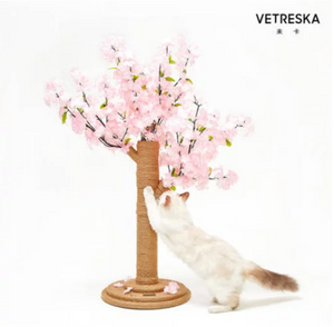 Vetreska Cherry Blossom Cat Tree Scratcher - Catoro Cat Cafe