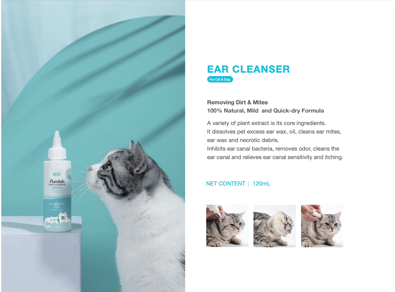 Cature Purelab Ear Cleanser - Catoro Cat Cafe