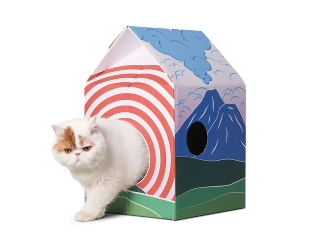 Pidan Cat House and Scratcher - Catoro Cat Cafe