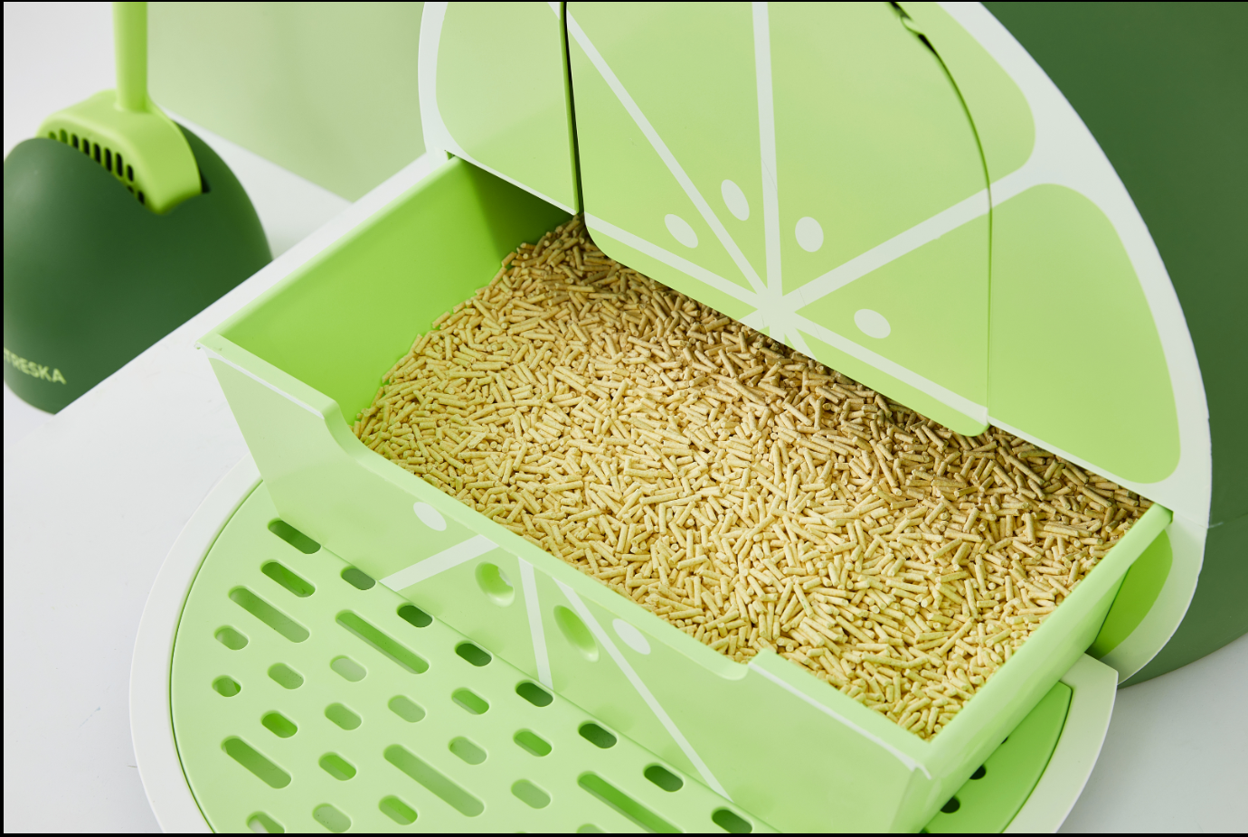 Fruity Litter Box (Lime) - Catoro Cat Cafe