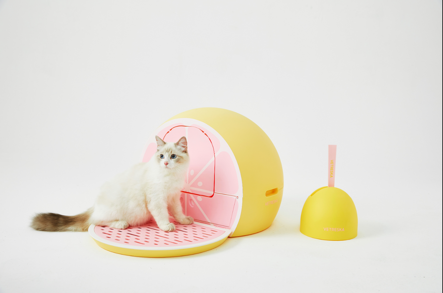 Fruity Litter Box (Grapefruit) - Catoro Cat Cafe