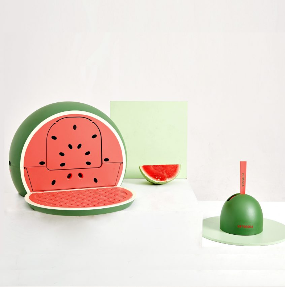 Fruity Litter Box (Watermelon) - Catoro Cat Cafe