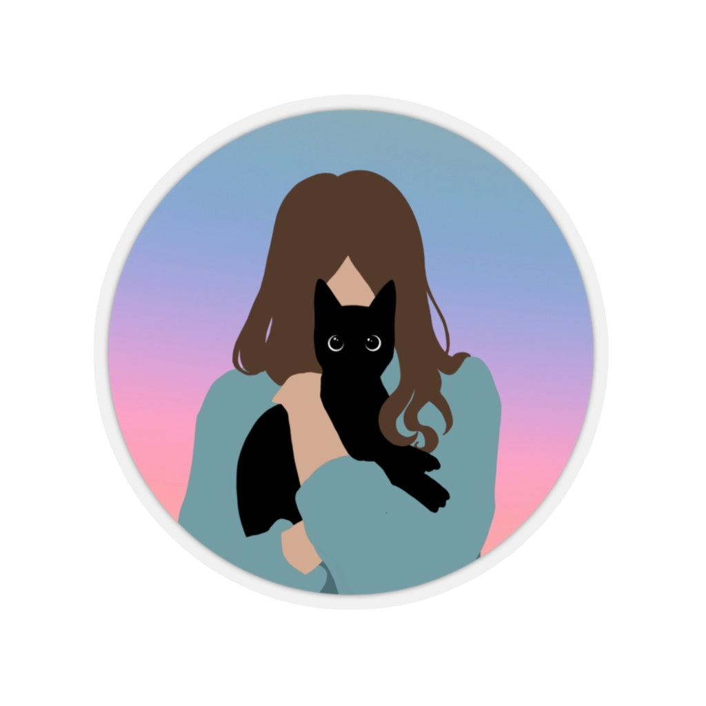 Hug Your Cat Sticker - Catoro Cat Cafe
