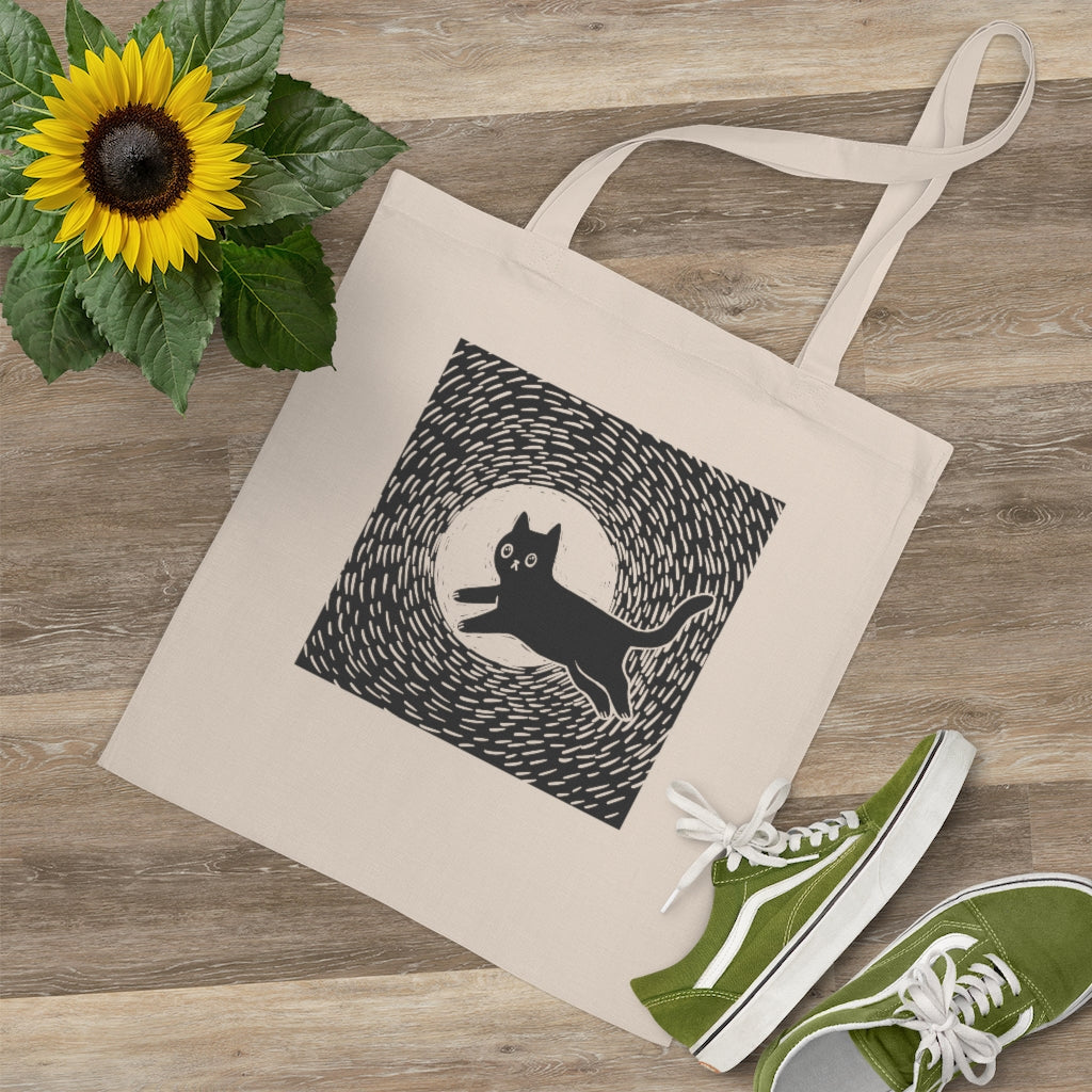 Full Moon Kitty Tote Bag - Catoro Cat Cafe