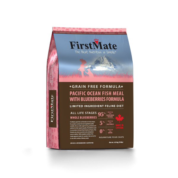 FirstMate Cat LID GF PacificOcean Fish/Blueberries 10lb - Catoro Cat Cafe