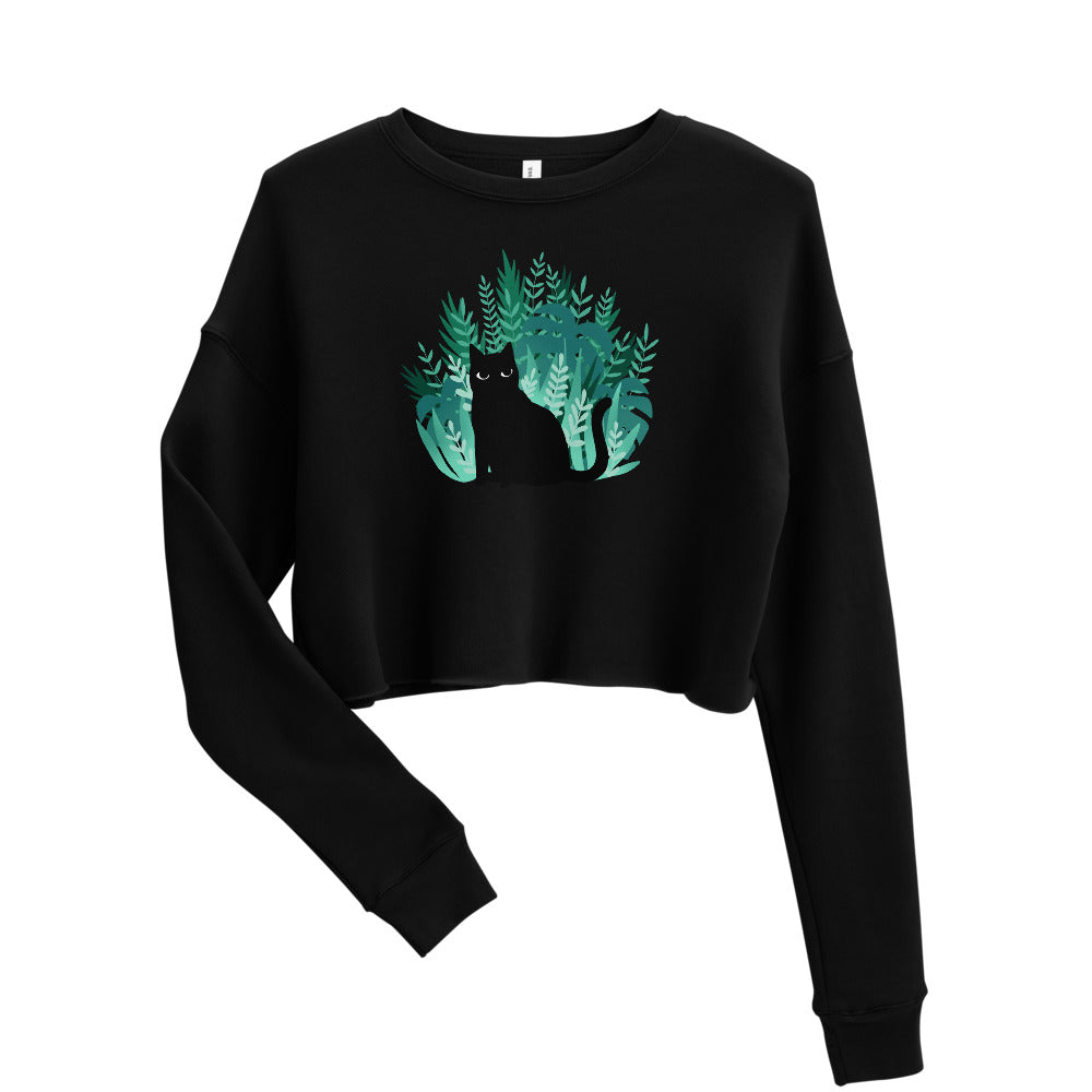 Jungle Kitty Crop Sweatshirt - Catoro Cat Cafe