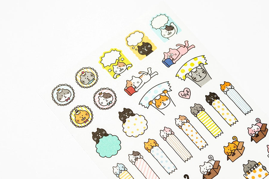 Cat Sticker Sheet - Catoro Cat Cafe