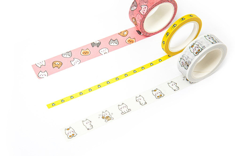 Washi Tape - Pink Cats - Catoro Cat Cafe