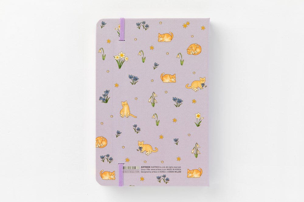 Hard Cover Journal (Purple) - Catoro Cat Cafe