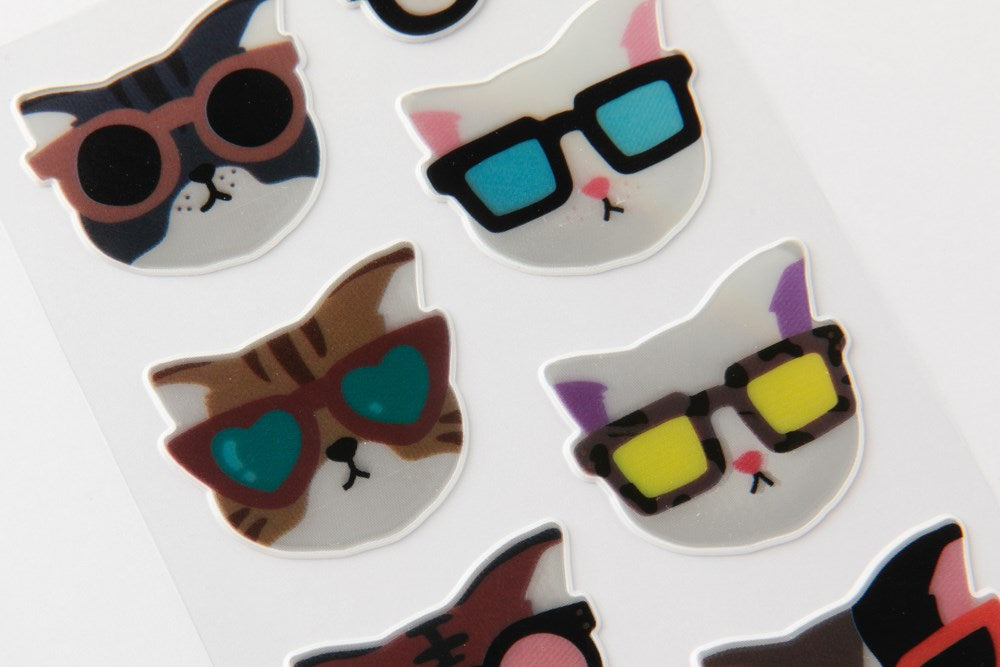 Reflective Cat Sticker Sheet - Catoro Cat Cafe