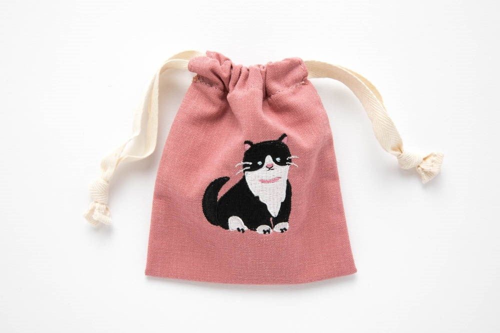 Embroidered Mini Cat Pouch - Catoro Cat Cafe