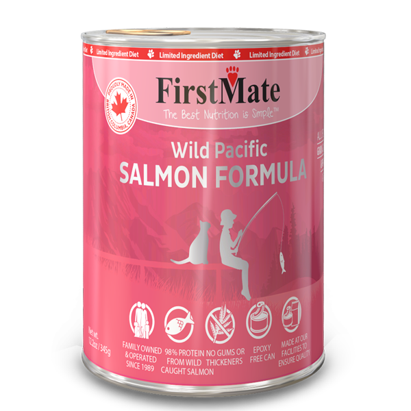 FirstMate Cat LID GF Salmon (345g/12.2oz) - Catoro Cat Cafe