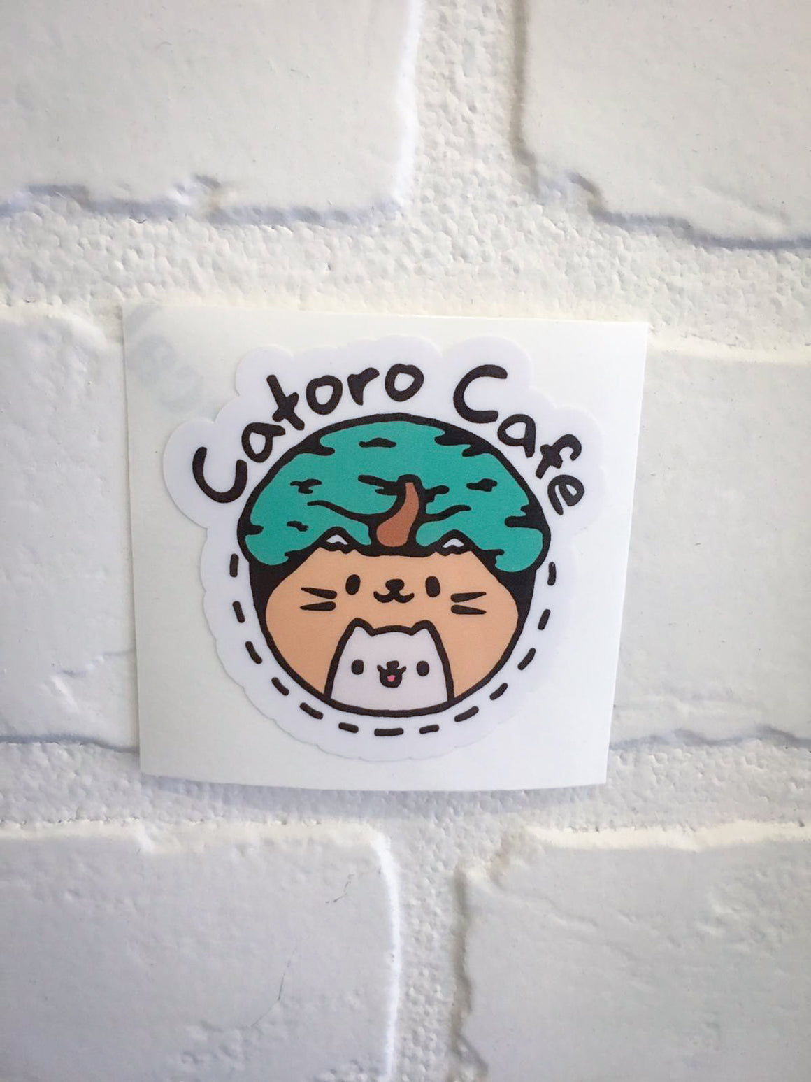 "Catoro 2"" Waterproof Sticker - Catoro Cat Cafe"