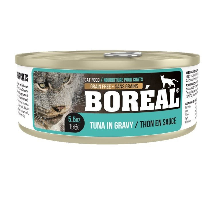 BOREAL Cat Tuna Red Meat in Gravy 24/156g - Catoro Cat Cafe