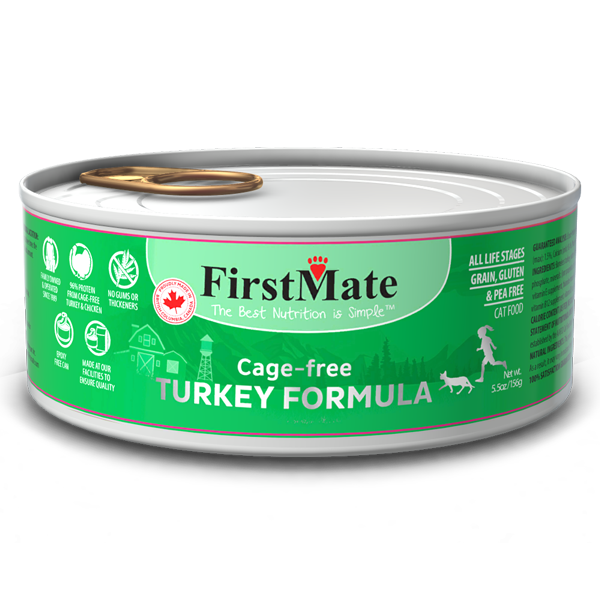 FirstMate Cat LID GF Turkey 156g/5.5 oz - Catoro Cat Cafe