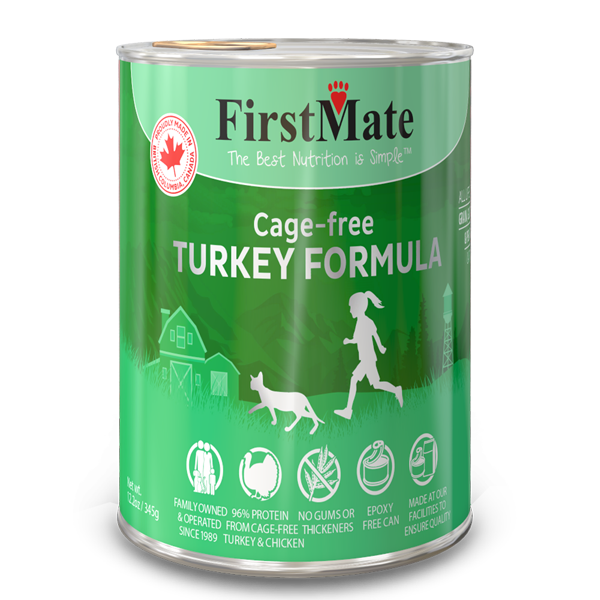 FirstMate Cat LID GF Turkey (345g/12.2oz) - Catoro Cat Cafe