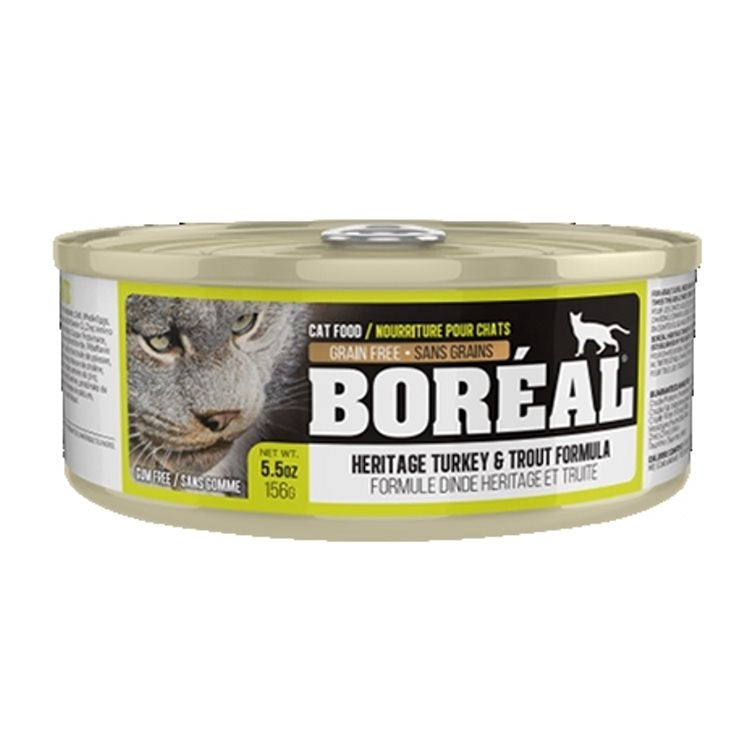 BOREAL Cat Heritage Turkey & Trout 156g - Catoro Cat Cafe