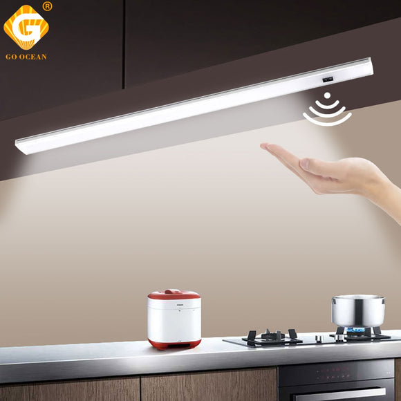 GO OCEAN Under Cabinet Lights Counter Lamp 12V 30CM 50CM Closet Lamps Lighting For Kitchen Bookcase LED Cupboard Light