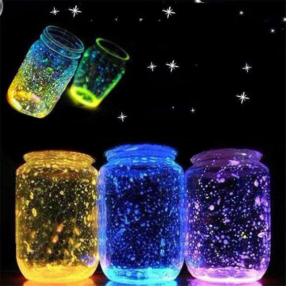 Luminous stone Wishing bottle DIY Kids toy Glow in the dark Gifts for children 10g one piece Brinquedos Spielzeug Lighting Gift