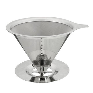 Double Layer Stainless Steel Coffee Filter Holder Pour Over Coffees Dripper Mesh Coffee Tea Filter Basket Tools