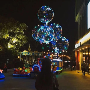 Party Flash Bright Balloons Hand-held Wave Ball Ins Bobo Balloon Lights Night Market LED Festive Party Supplies W1