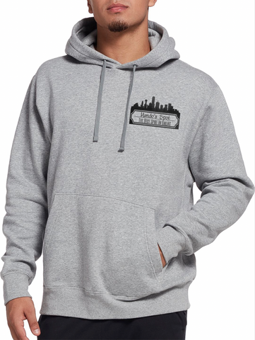 Gray and black OG Logo hoodie