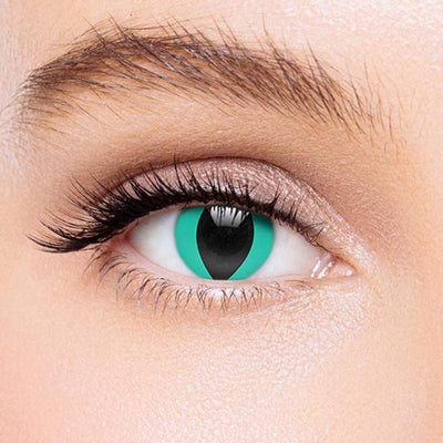 Icoloured® Aqua Blue Cat'S Eye Colored Contact Lenses