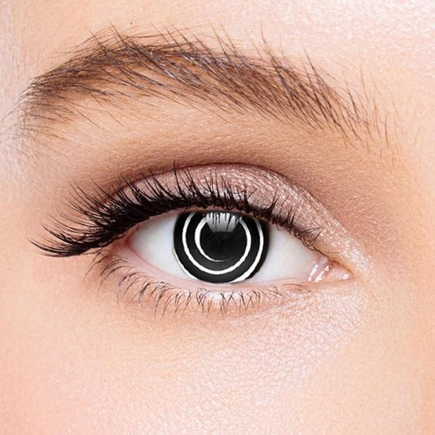 Icoloured® Black Spiral Colored Contact Lenses